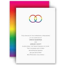 Rainbow Rings - Invitation