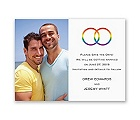 Rainbow Rings - Save the Date Card