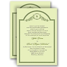 Elegant Frame - Honeydew - All In One Invitation