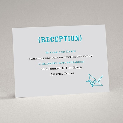 Origami Cranes - Reception Card