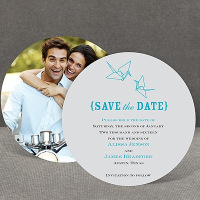 Origami Cranes - Save the Date Card