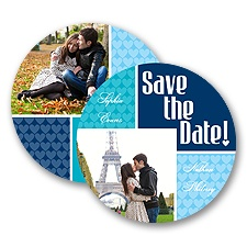 Heart This - Navy - Save the Date Card