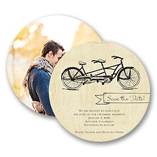 In Tandem - Save the Date Card