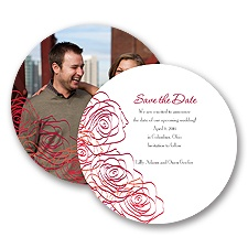 Whimsical Roses - Cherry - Save the Date Card