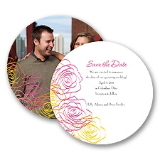 Whimsical Roses - Fuchsia - Save the Date Card