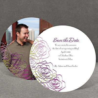 Whimsical Roses - Grapevine - Save the Date Card