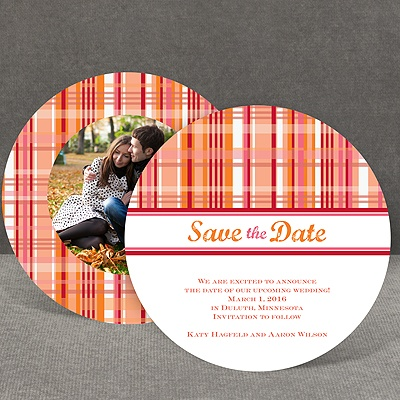Mad About Plaid - Corabell - Save the Date Card