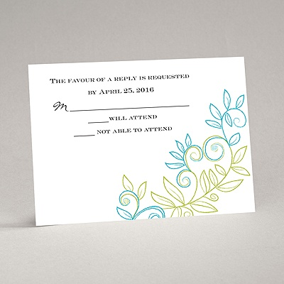 Chalky Vines - Response Card and Envelope