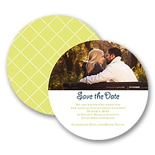 Simple Lattice - Limelight - Save the Date Card