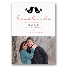 Lovebirds - Save the Date Magnet
