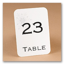 Snowflake Table Number Cards