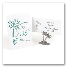 Palm - Tree Table Number Cards