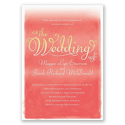 Watercolor Whimsy - Invitation
