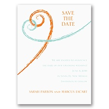 Swirl Hearts - Save the Date Card