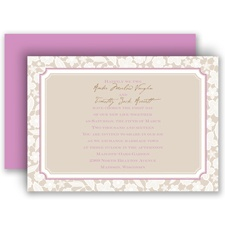 Lacy Flowers - Invitation