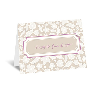 Lacy Flowers - Note Card and Envelope