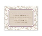 Lacy Flowers - Reception Card