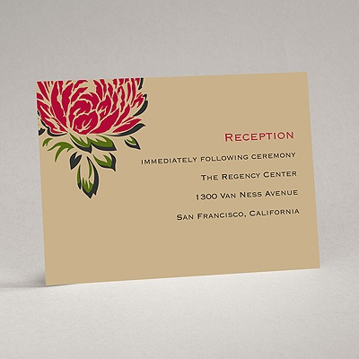 Vintage Peonies - Reception Card