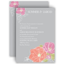 Whimsical Poppies - Invitation