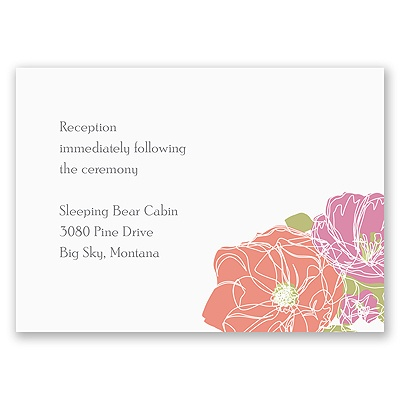 Whimsical Poppies - Reception Card