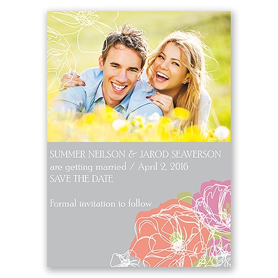 Whimsical Poppies - Save the Date Magnet
