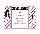 Hipster Silhouette - Save the Date Magnet