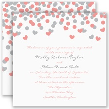 Heart Confetti - Invitation