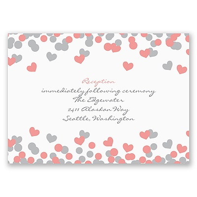 Heart Confetti - Reception Card