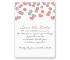 Heart Confetti - Save the Date Magnet