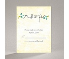 Blossom Together - Aqua - Response Card and Envelope