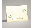 Blossom Together - Aqua - Note Card and Envelope