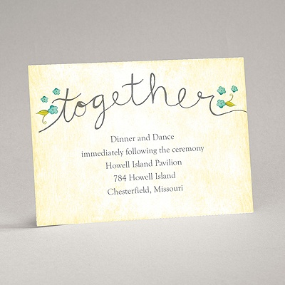 Blossom Together - Aqua - Reception Card