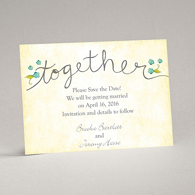 Blossom Together - Aqua - Save the Date Magnet