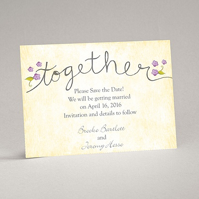 Blossom Together - Freesia - Save the Date Magnet