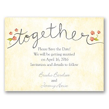 Blossom Together - Posie Pink - Save the Date Magnet