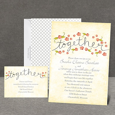 Blossom Together - Posie Pink - Invitation