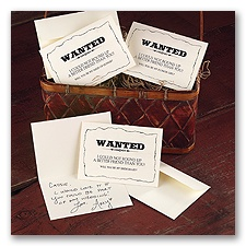 Wanted! - Wedding Party Cards