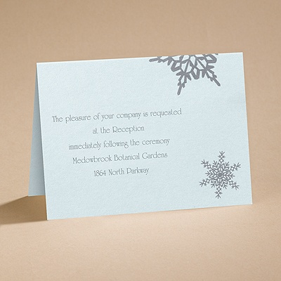 Winter Wonders - Reception Card