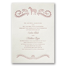 Horse Silhouette - Ecru - Featherpress Invitation