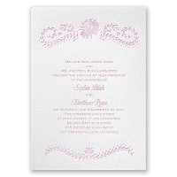 Sunflower Delight - White - Featherpress Invitation