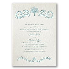 Oak Tree - Ecru - Featherpress Invitation
