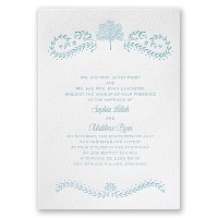 Oak Tree - White - Featherpress Invitation