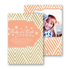 Baby It's Cold Outside - Corabell - Photo Holiday Card