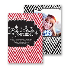 Baby It's Cold Outside - Black - Photo Holiday Card