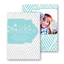 Baby It's Cold Outside - Fountain - Photo Holiday Card