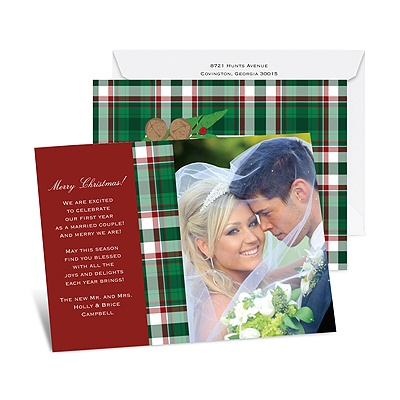 Jingle Plaid - Photo Holiday Card