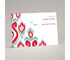 Romantic Ikat - Response Card and Envelope