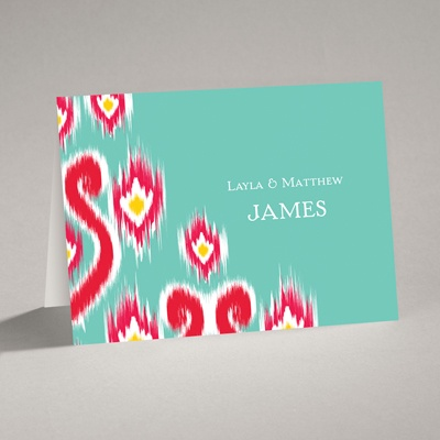 Romantic Ikat - Note Card and Envelope