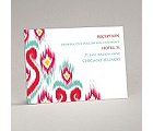 Romantic Ikat - Reception Card