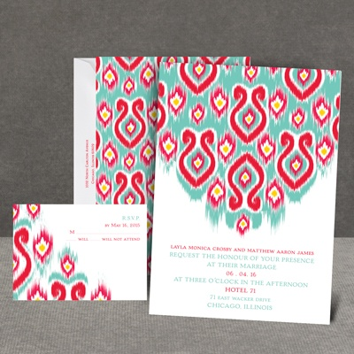 Romantic Ikat - Invitation
